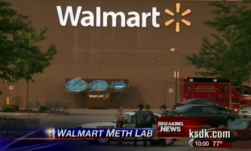 Missouri Walmart Evacuated After Detained Shoplifter Starts Cooking Meth Inside Loss Prevention Office