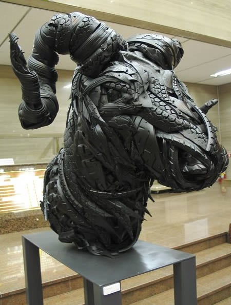 Fifteen Mind-Bendingly Awesome Used Tire Sculptures