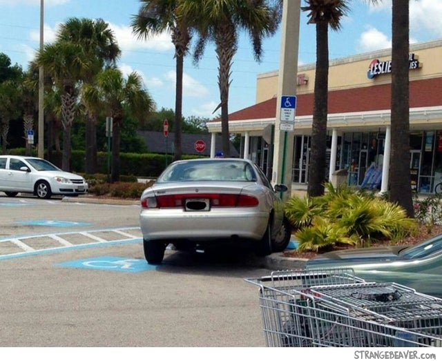 Just you park llike an asshole girl tks