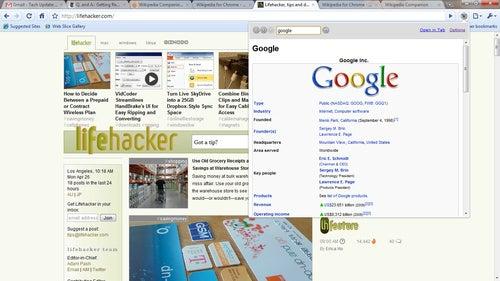 Wikipedia Companion Adds Mini Browser to Google Chrome