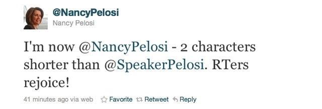 Nancy Pelosi Abdicates on Twitter