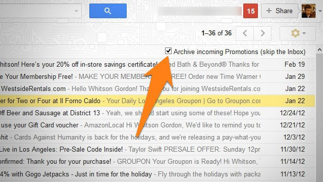 "Set Newsletters and Other ""Smart Labels"" to Automatically Skip Gmail's Inbox"