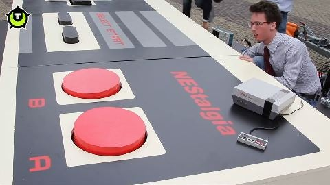 Check Out the World's Largest Working NES Controller