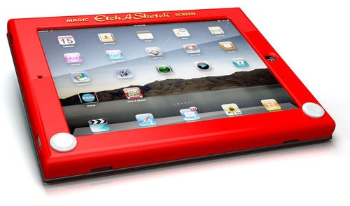 "Official Etch-A-Sketch iPad Case Makes ""Shake To Undo"" More Obvious"