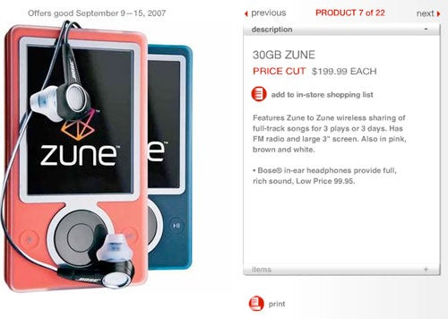 Target Ad Scoops Blue Zune Release