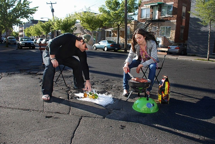 If You Can't Fix Potholes, Use 'Em For Bottle Service