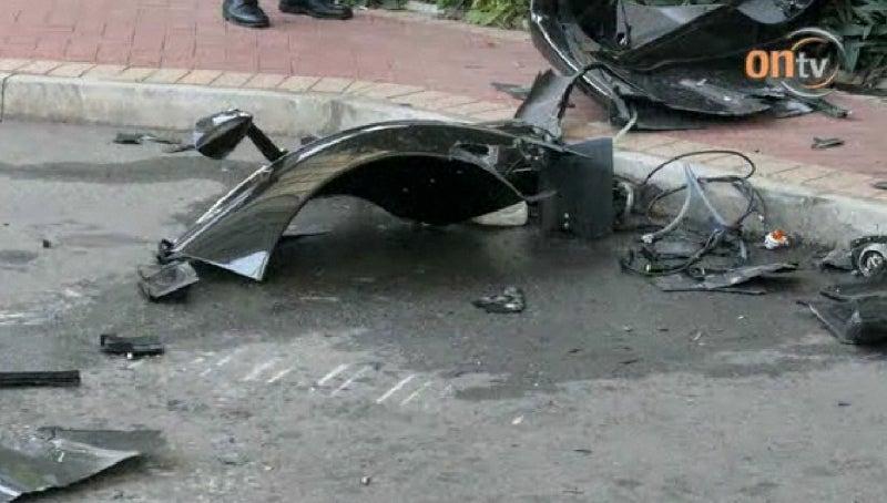 Smashed Pagani Zonda F Gallery