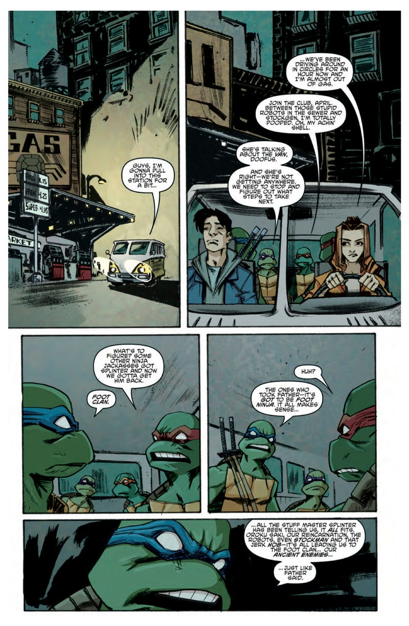 A sneak peek of the next issue of Teenage Mutant Ninja Turtles