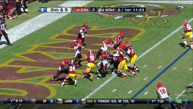 """""""The Redskins Lost Because Their Comeback Ran Out Of Time, In One GIF"""