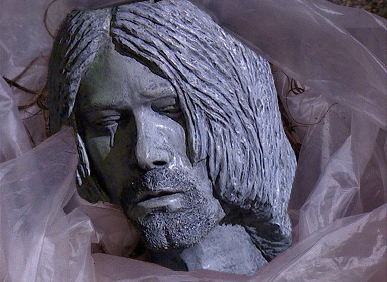 """Crying Wino"" Statue of Nirvana's Kurt Cobain Goes Up In Town He Hated"