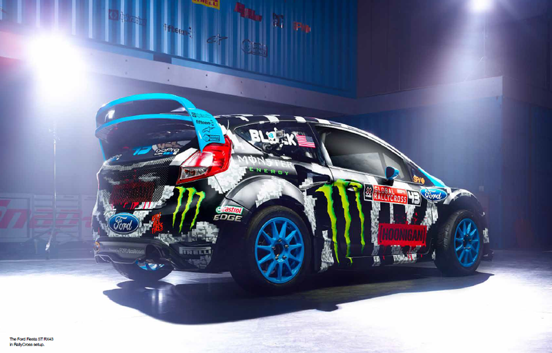 Ken Block's 2014 team livery is 8bit Zebra Awesomeness.