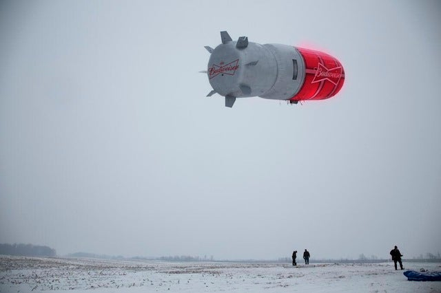 Runaway Novelty Beer Blimp Just Floating Around, Forever And Ever