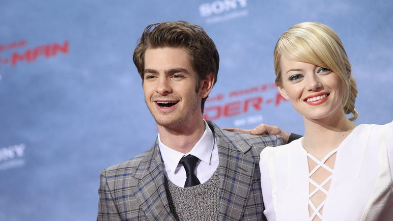 Emma Stone and Andrew Garfield Almost Can't Believe How Super They Look