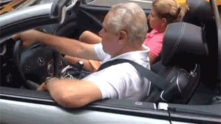 Hilariously crazy guy trolls rich guys in expensive sports cars