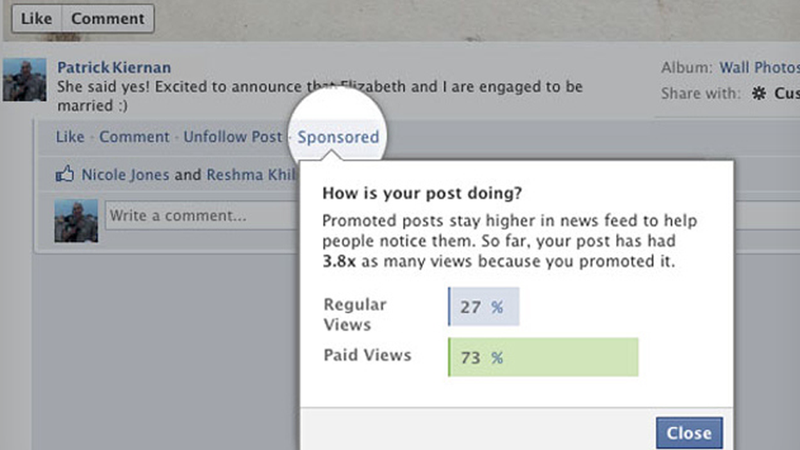 Would You Pay Facebook Money For More People To See Your Status Updates?