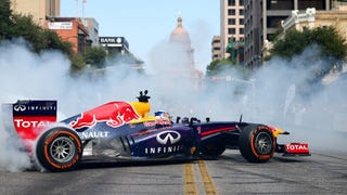 I Rode With Sebastian Vettel During Red Bull's F1 Donut Extravaganza