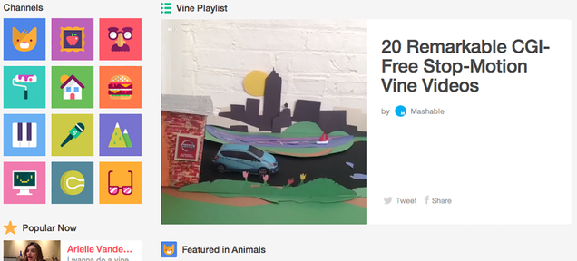 Vine's Website Just Turned Into a Massive Searchable GIF Library