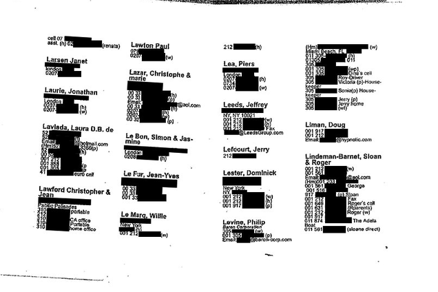 Jeffrey Epstein's Little Black Book