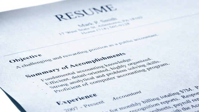 Leave Your Old Job Description f Your Resumé List Your