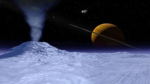 What is creating all that energy beneath the ice on Saturn's moon Enceladus?