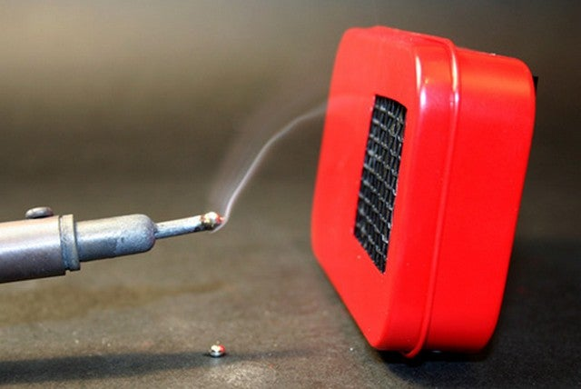 Convert a Candy Tin into a Mini Air Filter for Fume-Free Soldering