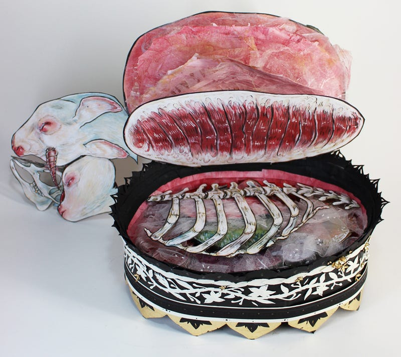 Gorgeous pop-up book lets you dissect a unicorn organ by magical organ