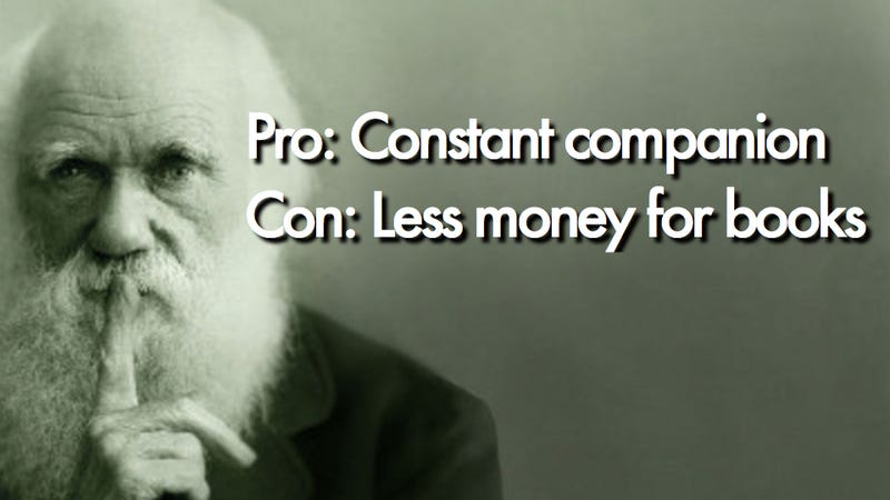 Charles Darwin ruminates on the pros and cons of marriage