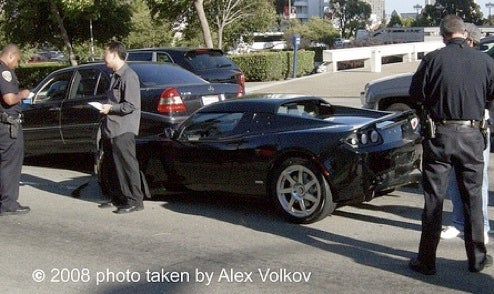 World's First Tesla Roadster Crash... That's Been Caught On Camera!