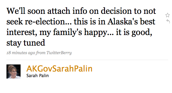 Why Did Sarah Palin Resign?