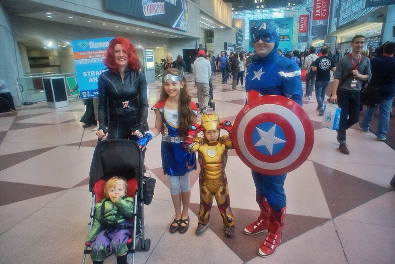 NYCC Cosplay: Baby Hulk, Cranky Zombies and a DC/Marvel Power Couple