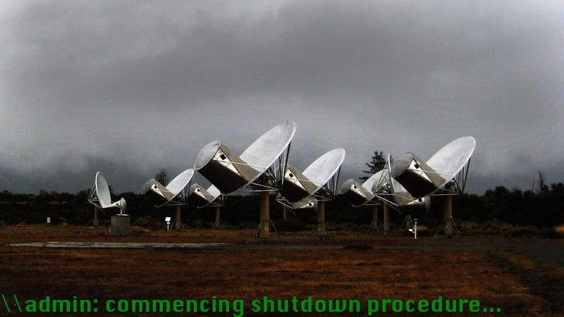Government Powers Down SETI