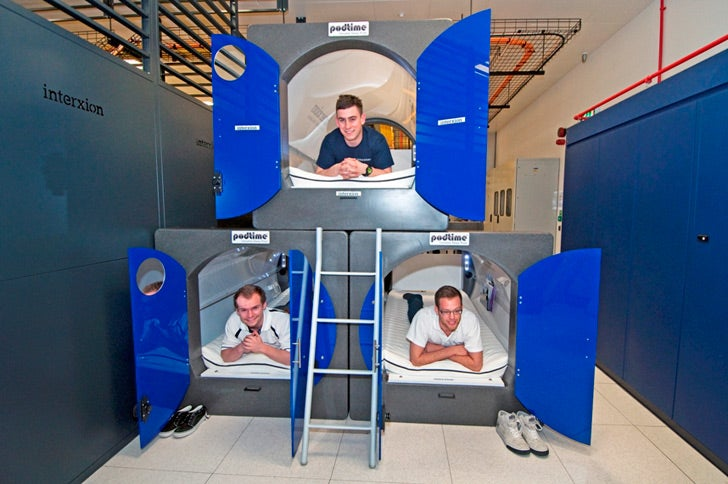 The London Olympics will force some employees to sleep in space pods