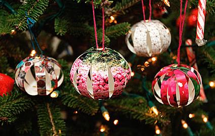 Как из бумаги сделать новогодние украшения своими