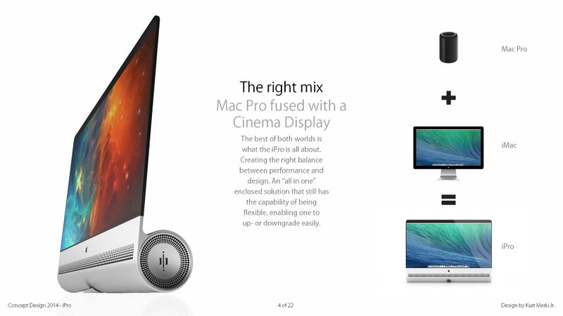The iPro is a mix between a Mac Pro and an iMac