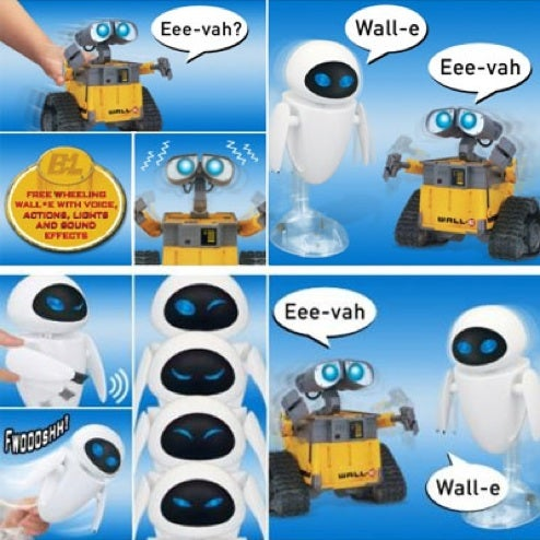 InterAction Wall-E and Eve Toys Get it on Robotically