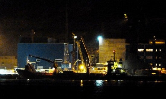 Nuclear Waste Ship Patched-Up In Nick Of Time