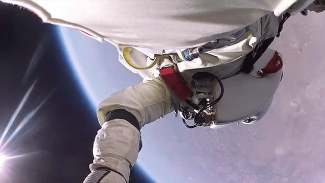 Incredible new video of Felix Baumgartner's space jump