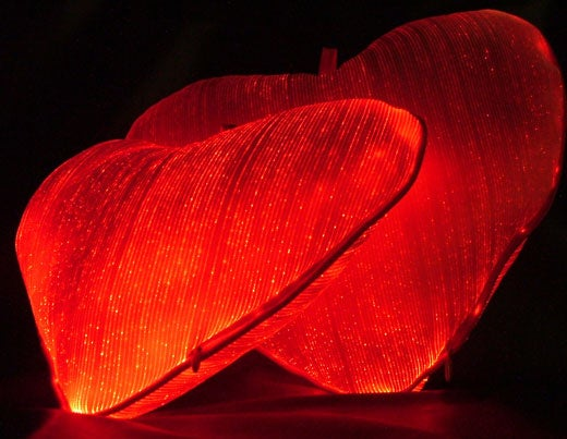 Luminous Fiber Optic Pillow For That Hot Valentine's Day Glow