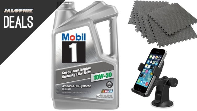 Save Big on Motor Oil, $2 Grocery Hooks, Foam Floor Tiles [Deals]