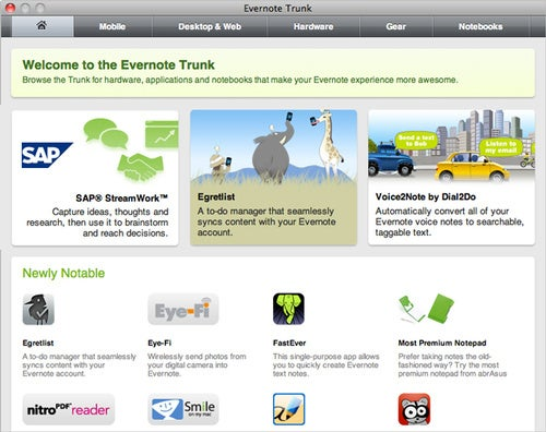 Five Services Worth Checking Out in Evernote Trunk, a Marketplace for Evernote Add-ons