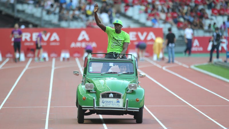 Bolt Ran The Fastest 200 Meters Of 2013 Then Rode In This Car