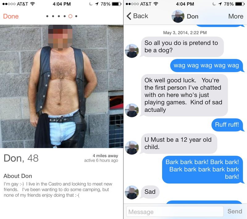What Happens When You Pretend To Be A Dog On Tinder