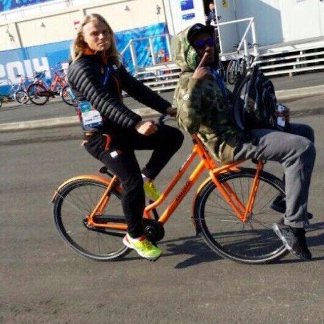 Shani Davis And Koen Verweij Are Best Olympic Bros