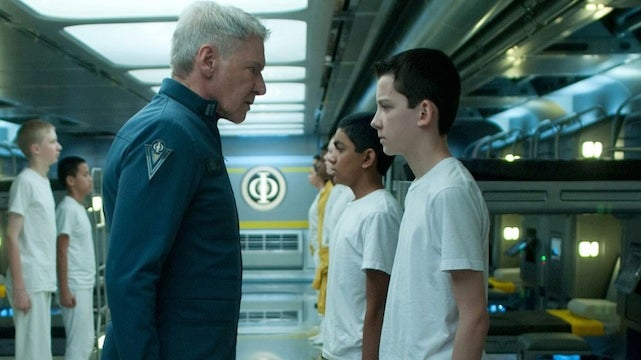 Harrison Ford gives a grim history lesson in first Ender's Game clip
