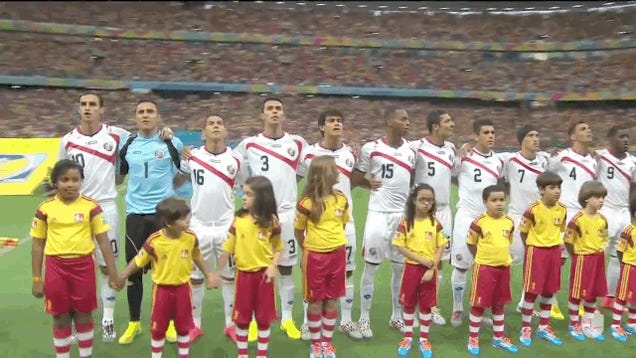 Winking Kid During Costa Rican National Anthem Is The Best