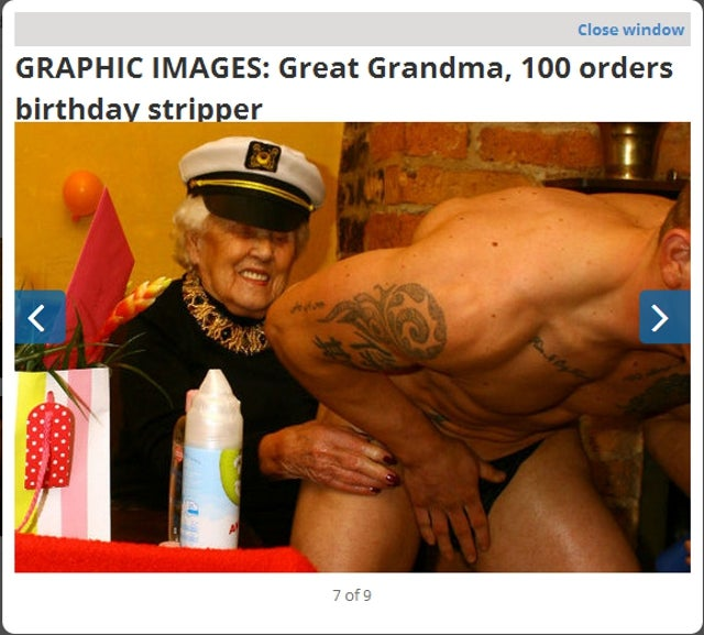 Great Great Grandma Celebrates Turning 100 By Hiring a Stripper