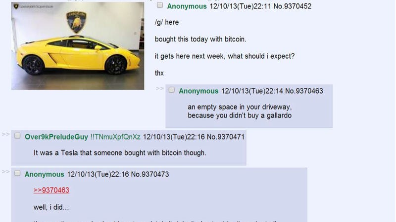 Now Everyone Wants To Buy A Car With Bitcoin