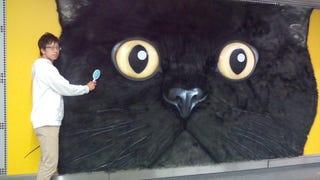 Tokyo's Giant Cat Billboard Is Big Enough to Pet