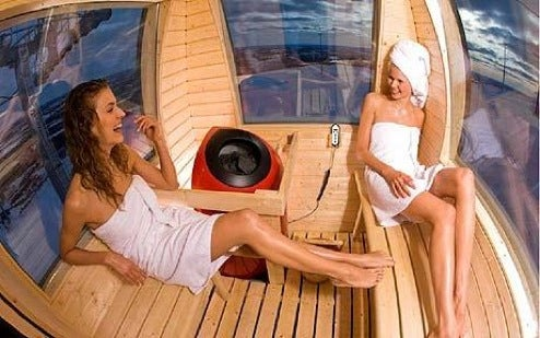 Sauna Gondola Car is Perfect Mix of Snow, Skiing and Nudity