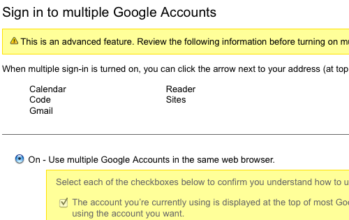 Google Goes Live with Multi-Account Sign-Ins